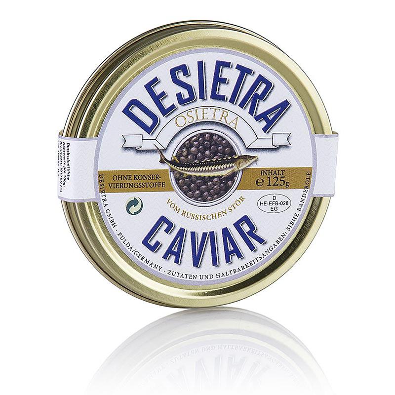 Desietra Osietra Kaviar Aqukultur, Ohne Konservierungsstoffe, 125g