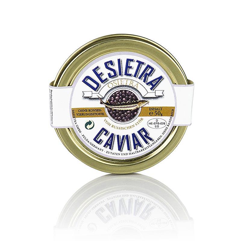 Desietra Osietra Kaviar Aqukultur, Ohne Konservierungsstoffe, 50g