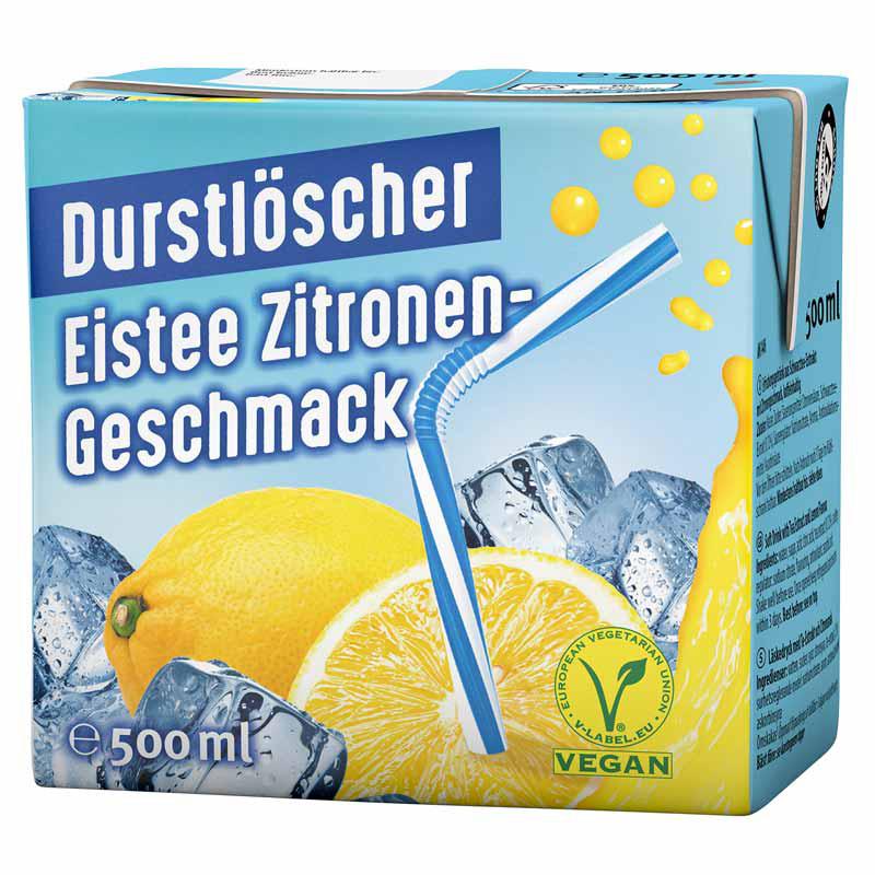 Durstlöscher Eistee Zitrone, 500ml